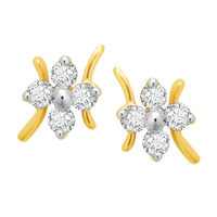 Starstruck Studs Diamond Earrings- BAPS187ER, si - ijk, 14 kt