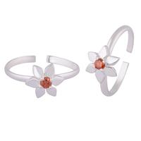 Daisy Silver Toe Rings-TRMX108
