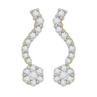 Diamond Earrings - BAER0771, si - ijk, 14 kt