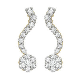 Single Row Diamond Earrings- BAER0771