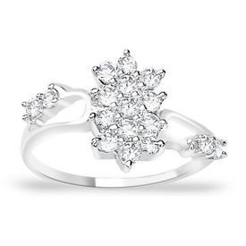 Charming White CZ Silver Finger Ring-FRL014