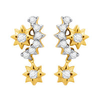 Diamond Earrings - DAPS033ER, si - ijk, 18 kt