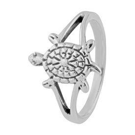 Tortoise Sterling Silver Finger Ring-FRL144