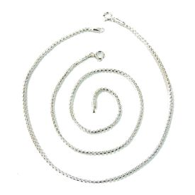 Incredible Plain Chain Silver Anklets-ANK041