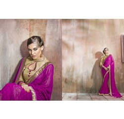 Mannat Collection Printed Georgette Sarees Purple, purple, georgette, printed