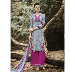 Ramp Collection Vol 4 Designer Salwar Suit Unstitched Purple, purple, cambric