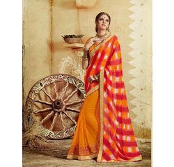 Bandhej Collection Vol 2 Designer Georgette Saree Yellow, yellow, georgette