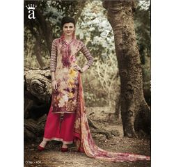 Ramp Collection Vol 4 Designer Salwar Suit Unstitched Beige & Red, beige & red, cambric