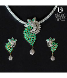 Imperial Leaves in Emerald, green