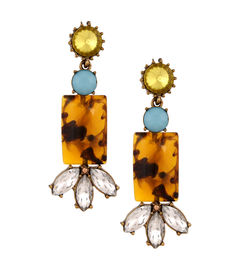 Tortoise Shell Drops /Coral Drops, brown / pink