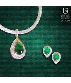 Green Pendant Set, green