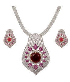 Diamond Dazzle with Ruby Centre, red
