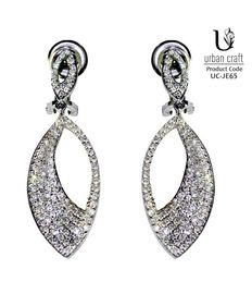 Almond Allure Earrings, white
