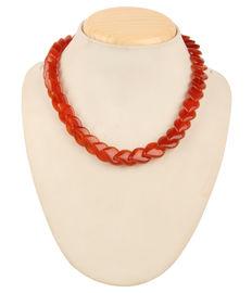 Crimson Glory 14 Necklace, red