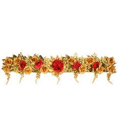 Golden Leaves & Red Roses Toran