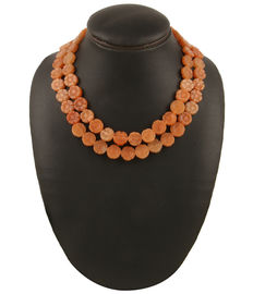 Caramel Bloom Necklace, orange