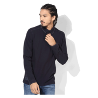 Tom Tailor Solid Polo T-Shirt, s,  navy blue