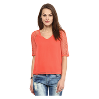 Harpa Solid Blouse, s,  orange