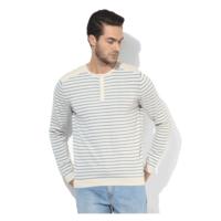 Levi's Striped Henley T-Shirt, s,  cream