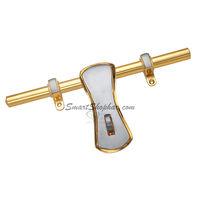 Brass Aldrop Curl, 12 inches, antique, brass