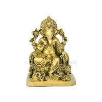 Ganesh Ji Ekdanta Statue, brass