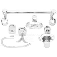 Bathroom Set 5 Piece, nickel silver, stainless steel