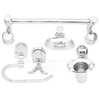 Bathroom Set 5 Piece, nickel silver, stainless steel
