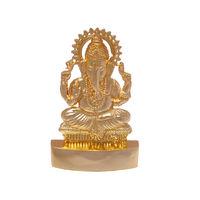 Ganesha Mukut Statue, gold, zinc