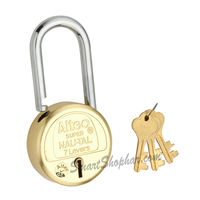 Padlock Long Shackle Lock Action 50mm, steel, medium