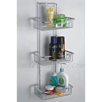 Wall Mounted Tripple Shelf, home care, 9 x 6 x22, stainless steel