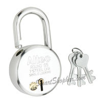 Padlock Single Lock Action 65mm, steel, medium