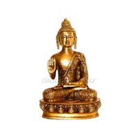 Lord Buddha Golden Statue Blessing, brass