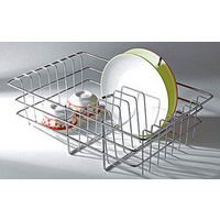 Modular Kitchen Luma Sink Basket, home care, 16 x 12 inches, stainless steel