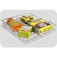 Modular Kitchen Partition Basket, home care, 15 x 16 x 8 inches, stainless steel
