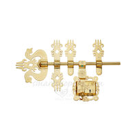 Brass Manichitratal Door Lock Aldrop Trishul, 16 inches  rod size , gold