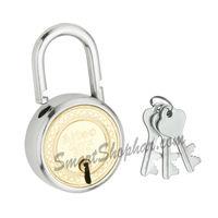 Padlock Double Lock Action 75mm, steel, medium