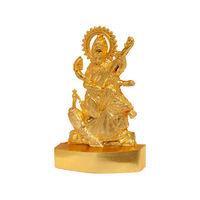 Sarswati Ji Statue, gold, zinc