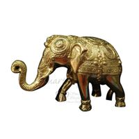 Decorative Brass Elephant Golden, brass