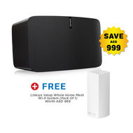 Sonos Gen 2 PLAY5+ Free Linksys Velop Wifi Router Pack Of 1 Worth Aed 999,  Black