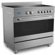 MIDEA 90x60CM PROFESSIONAL COOKER WITH 5 CERAMIC HOBS,  Stainless Steel