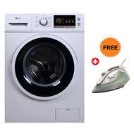 Midea 8Kg Front Loading Full Automatic Washing Machine MFL80E,  White