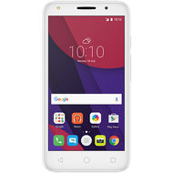 ALCATEL PIXI4 5 LTE/DUAL SIM/5.0 FWVGA/Android 6.0/Quad Core 1.0 Ghz/8GB+ 1GB RAM/8MP+ 5MP Camera/ 2000mAh,  White