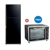 Hitachi Refrigerator RVG910 Inverter Series,  Glass Black