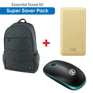X. cell Essential Travel Kit Wireless Mouse+ Fast Charging Power Bank+ Laptop Back pack