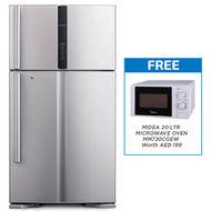 Hitachi Refrigerator Super Big 2 Inverter, RV910PUK1KSLS,  Silver, 910 L