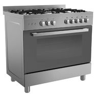 MIDEA 90x60 PROFFESSIONAL GAS COOKER,  STAINLESS STEEL