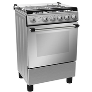 MIDEA 60 x 60 FULL SAFETY GAS COOKER, LME62028FFD,  STAINLESS STEEL