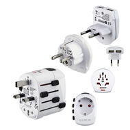 HAMA World PRO Plus USB World Travel Adapter Plug 3 Pins, HA128225