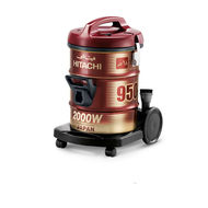 Hitachi Drum Vaccum Cleaner, CV950Y24,  Wine Red, 2000 W