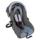 Mee Mee Forward Facing Baby Car Seat Cum Carry Cot with Thick Cushioned Seat & Head,  red